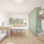 Byt Smíchov II, 0,5 Studio, 2021
